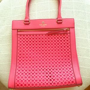 Kate spade pink peony bubbles satchel